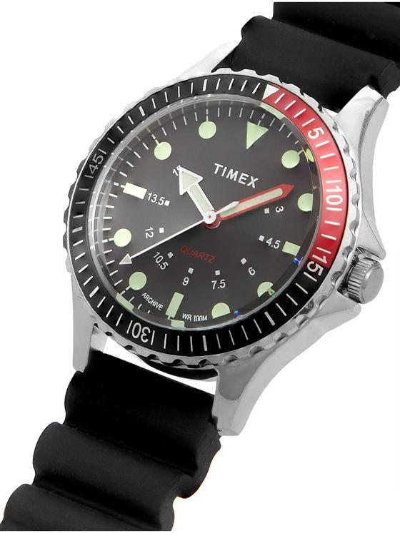 Timex Navi Depth Stainless Steel and Rubber Watch