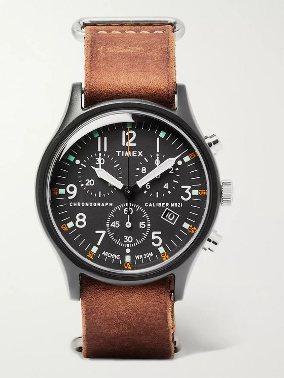Timex Camper MK1 40mm Stainless Steel and Leather Watch