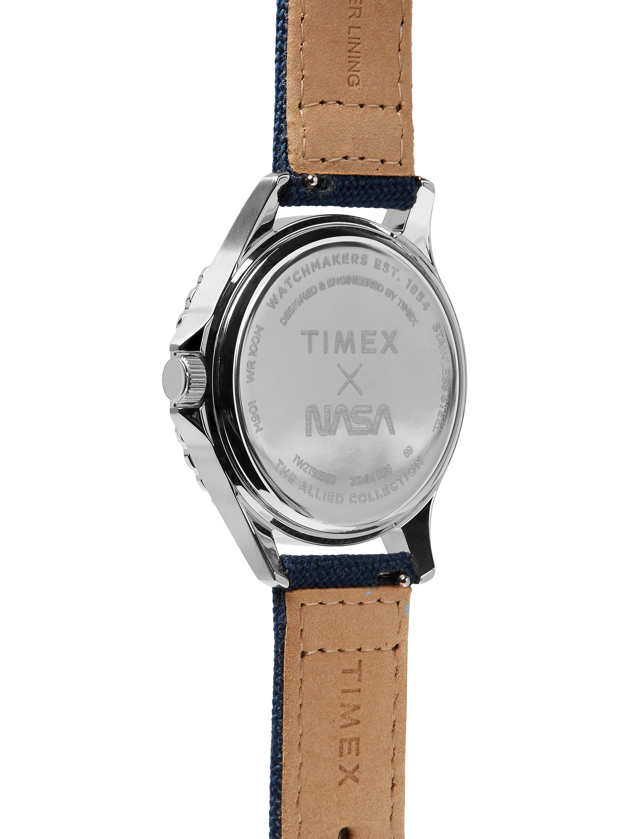 Timex + NASA Navi XL 41mm Stainless Steel and Canvas Watch