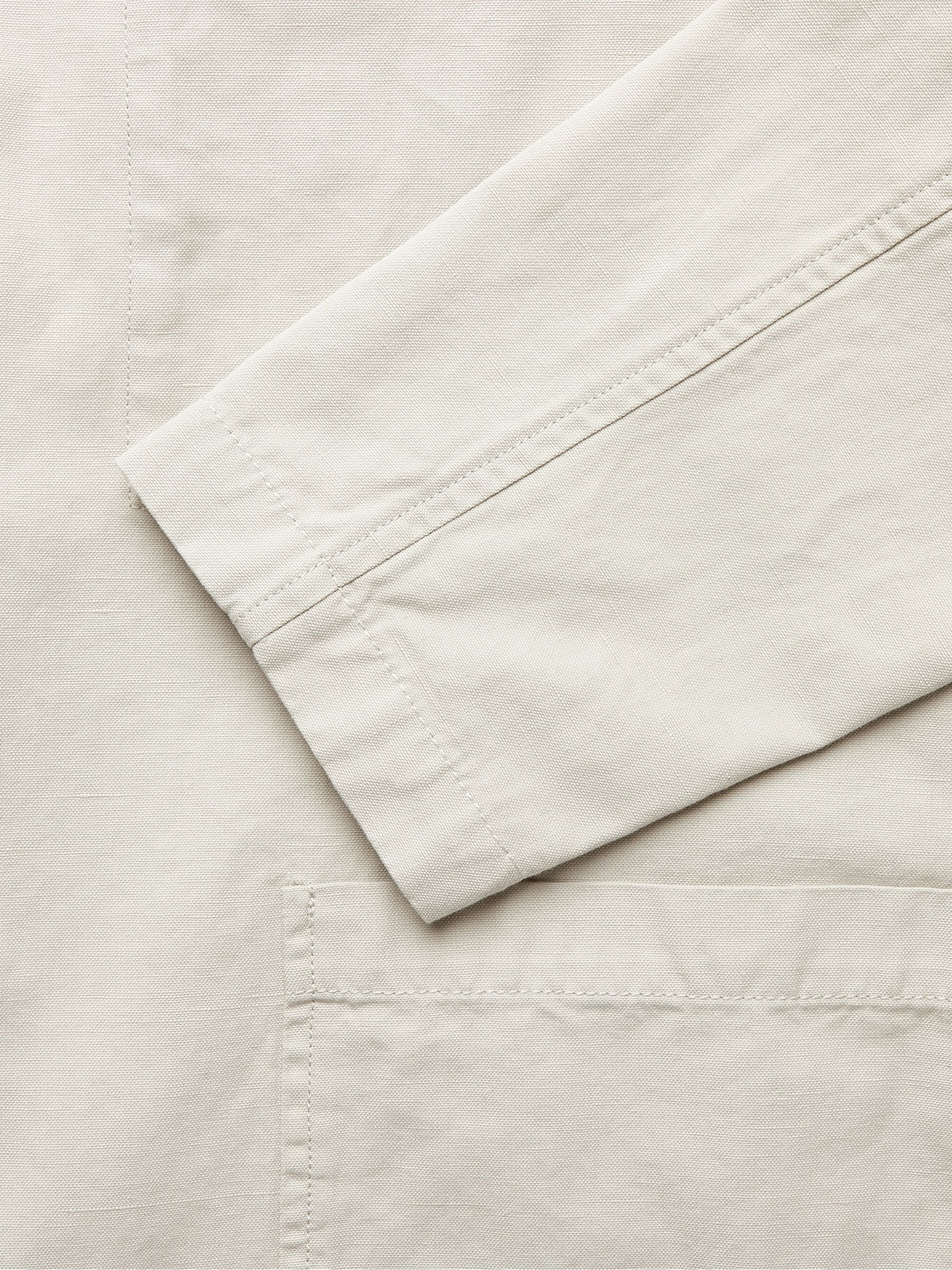 Blue Linen Imported Suiting Fabric from UK