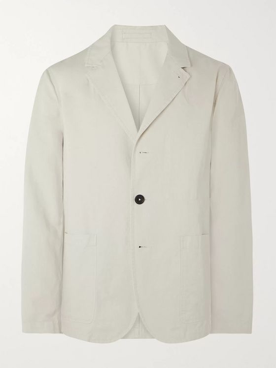 Mr P. Unstructured Cotton and Linen-Blend Suit Jacket