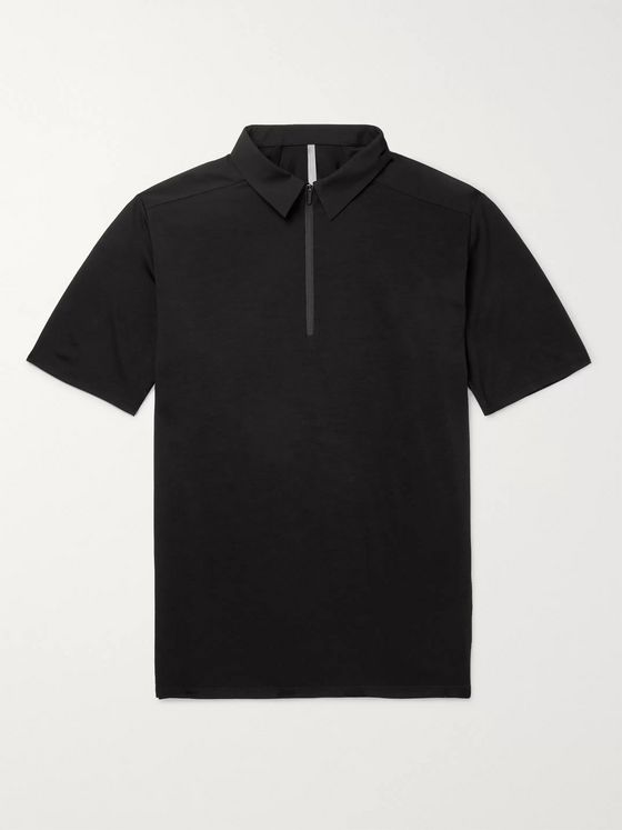 Veilance Frame Shell-Trimmed Wool-Blend Polo Shirt