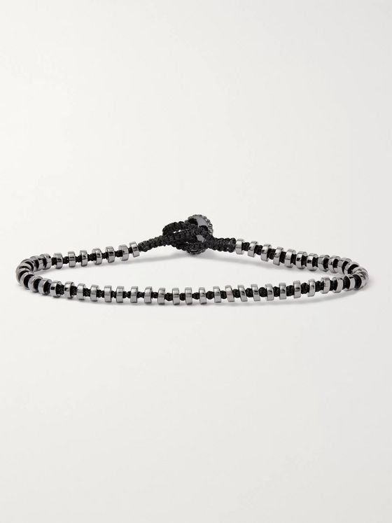TATEOSSIAN Pulse Macramé and Sterling Silver Bracelet