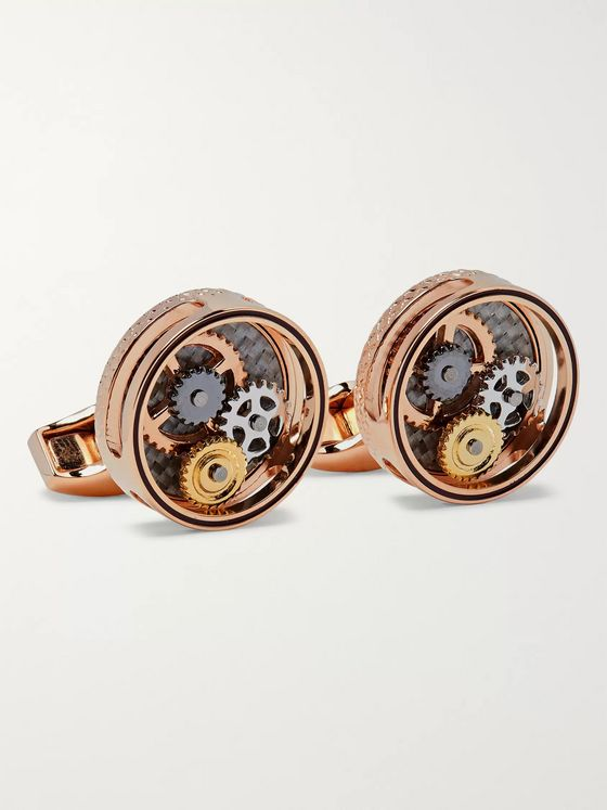 TATEOSSIAN Gear Rose Gold-Plated Cufflinks