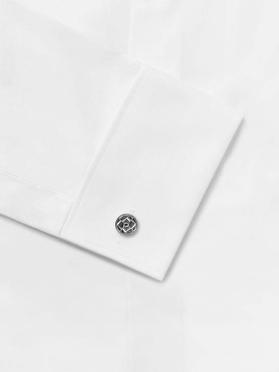 TATEOSSIAN Mirage Rhodium-Plated and Enamel Cufflinks