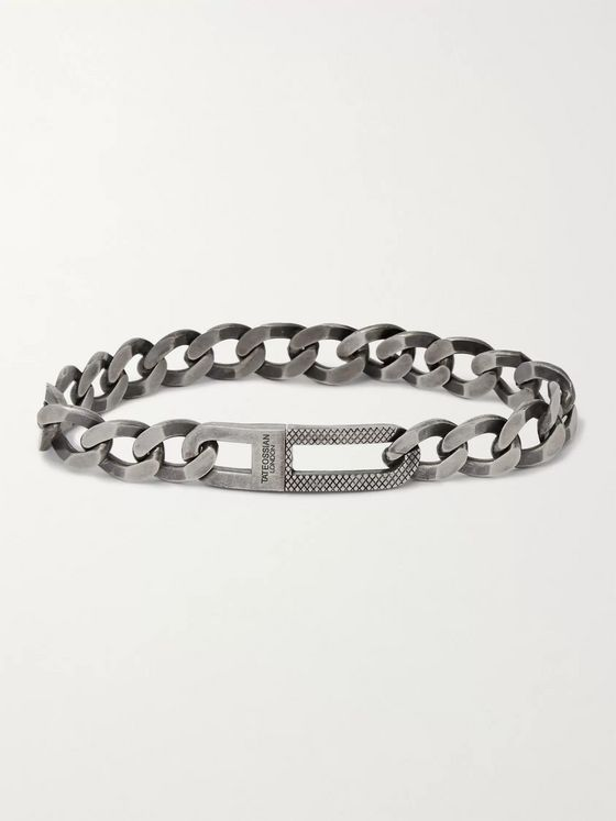 TATEOSSIAN Grumette Burnished Sterling Silver Chain Bracelet