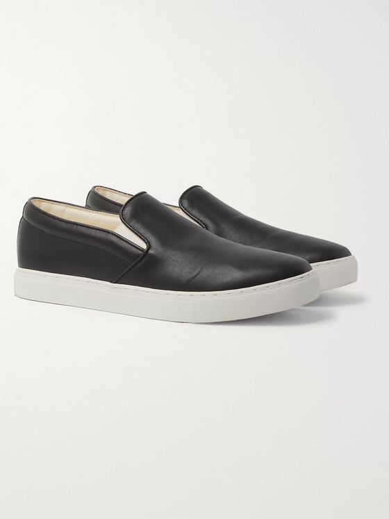 Comme des Garçons HOMME Leather Slip-On Sneakers