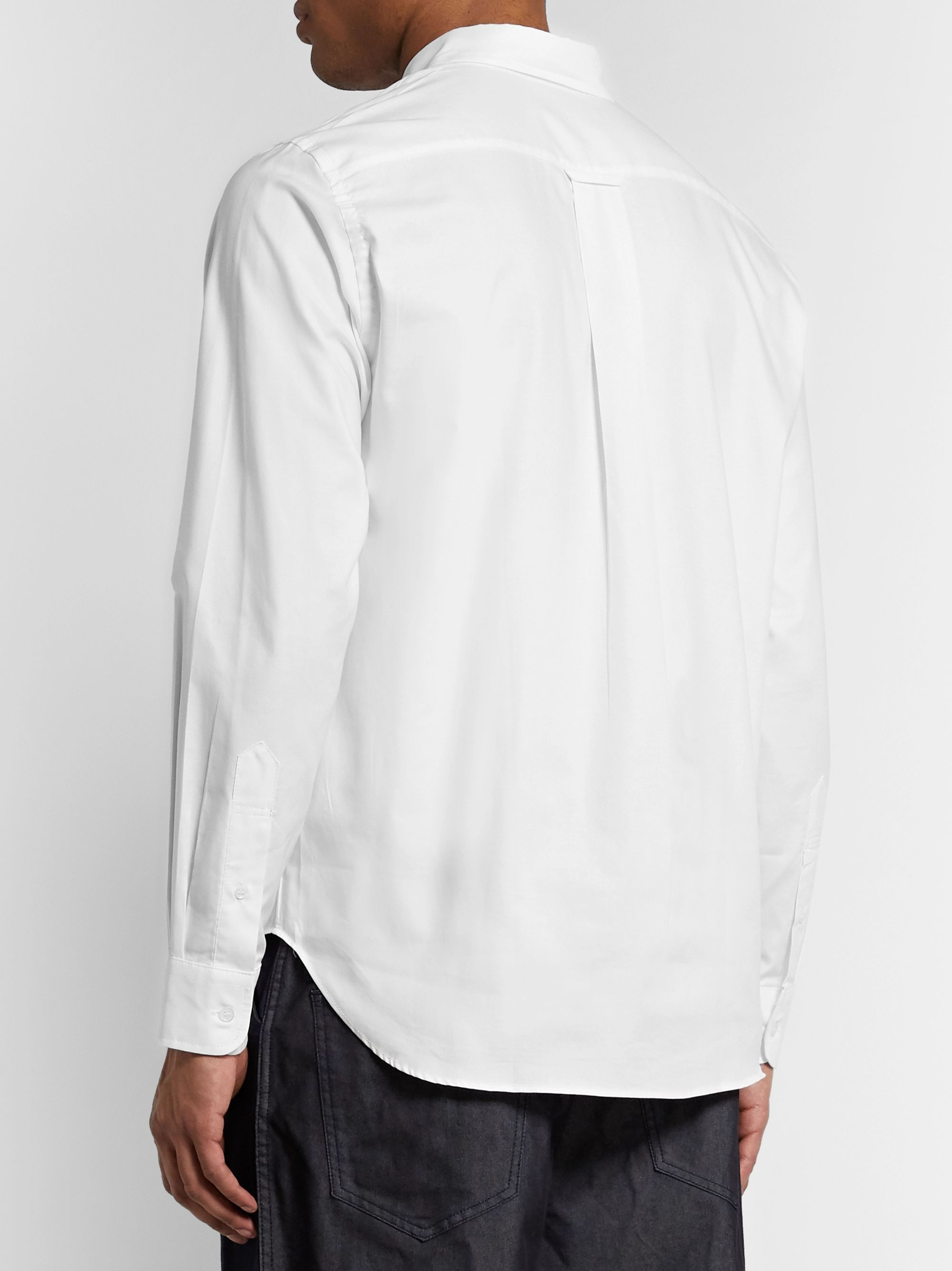 Comme des Garçons HOMME Slim-Fit Button-Down Collar Logo-Embroidered Cotton Oxford Shirt