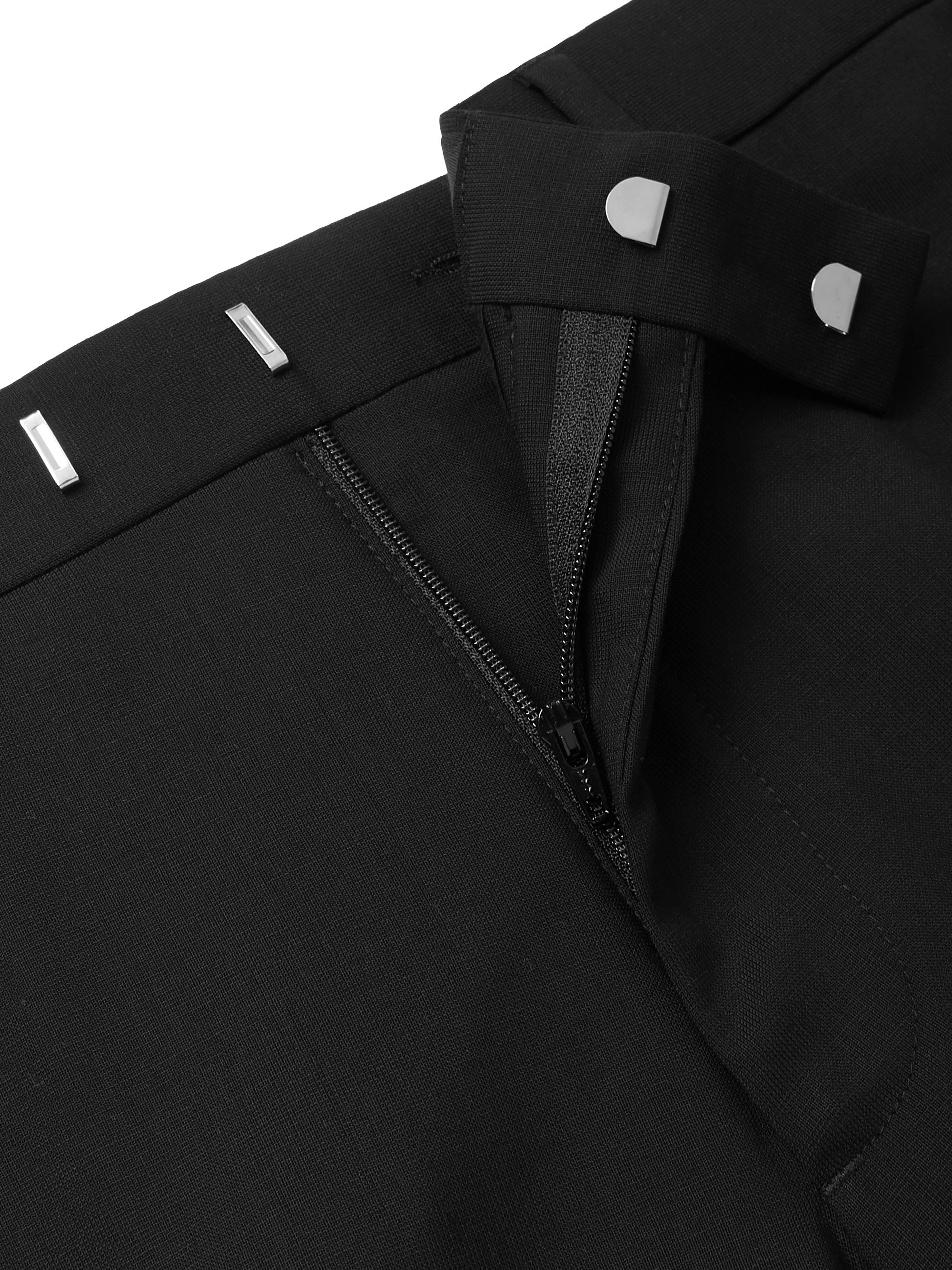 Sandro Black Wool-Blend Suit Trousers