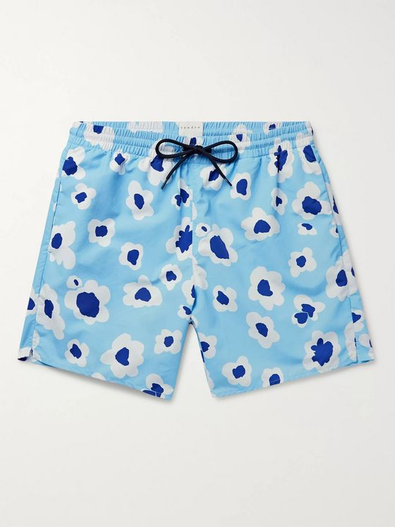 Sandro Slim-Fit Mid-Length Printed Swim Shorts