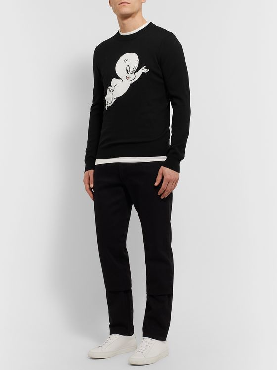Sandro Intarsia Wool Sweater