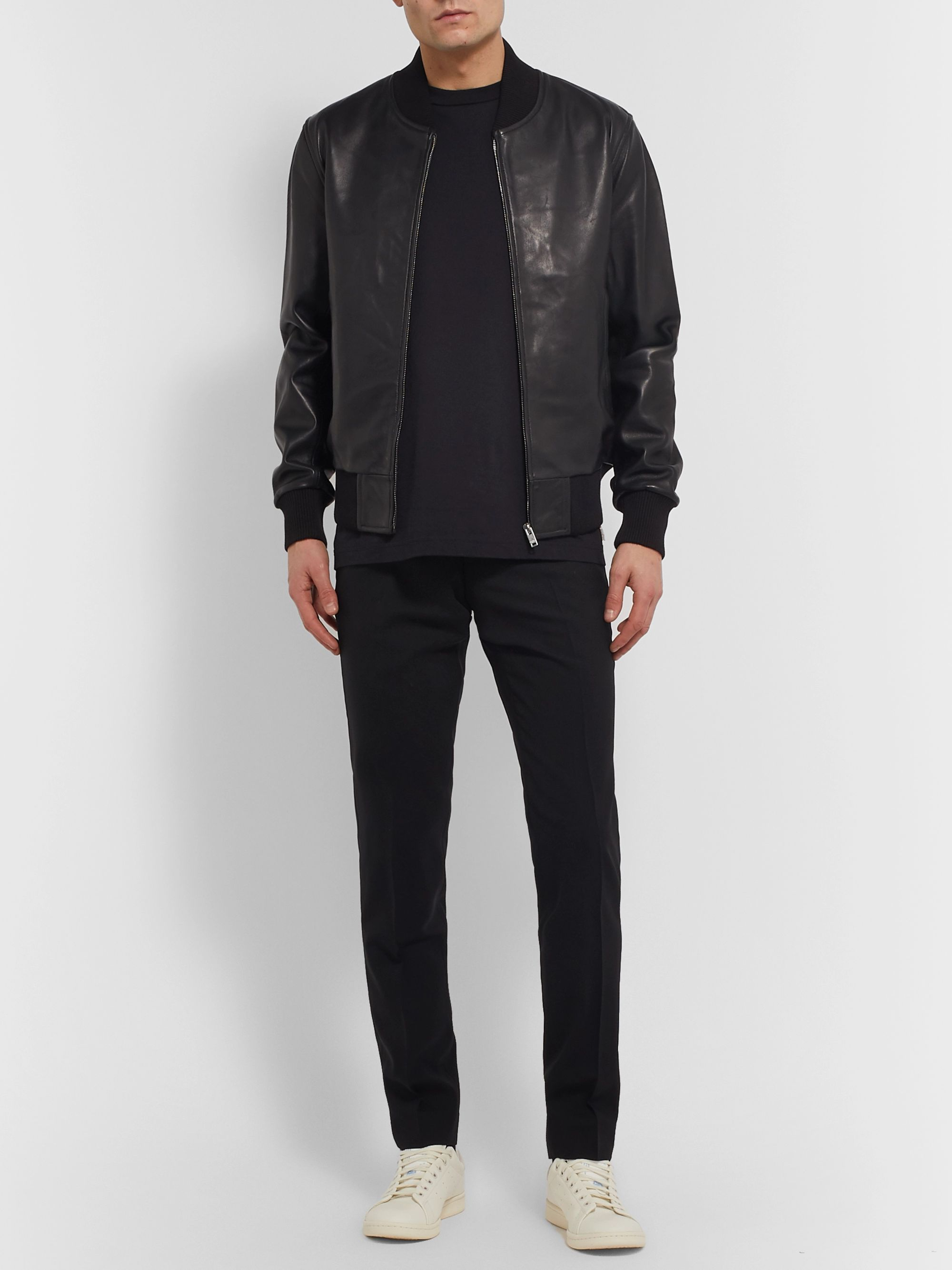 Sandro Leather Bomber Jacket