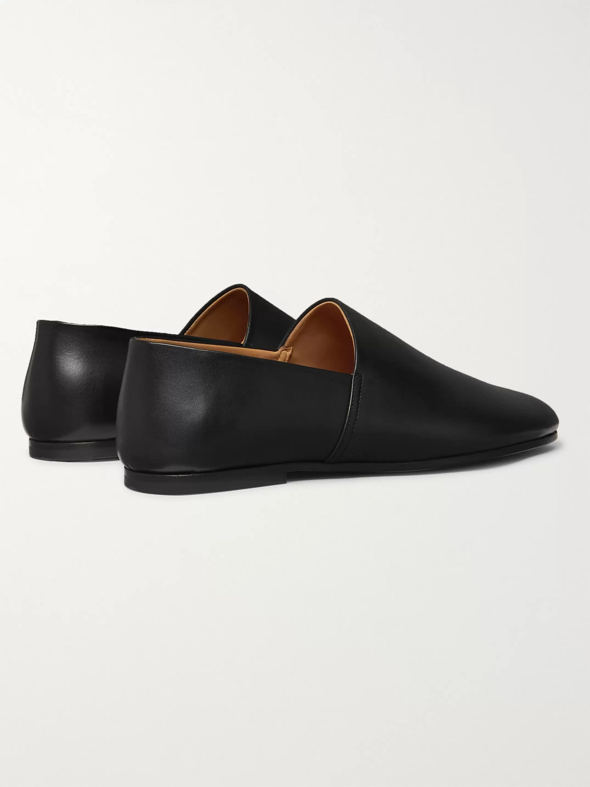 Sandro Collapsible-Heel Leather Slippers
