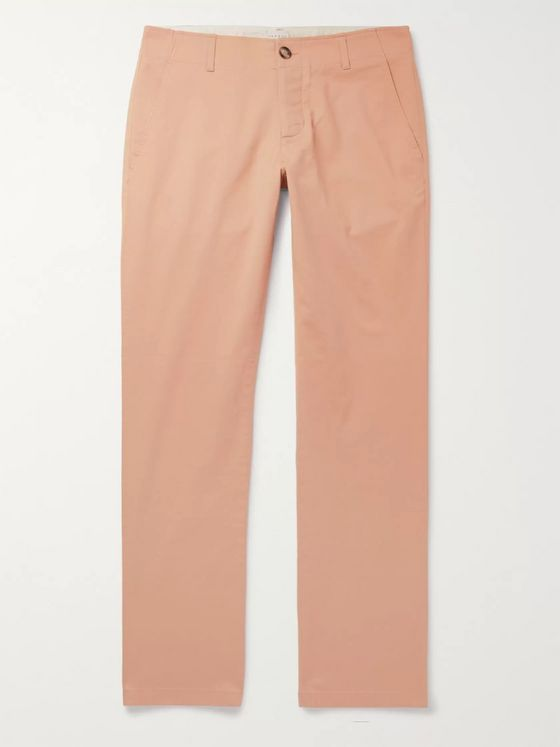 Sandro Slim-Fit Washed Cotton-Blend Chinos