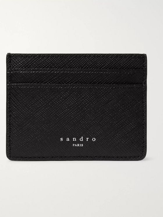 Sandro Saffiano Leather Cardholder