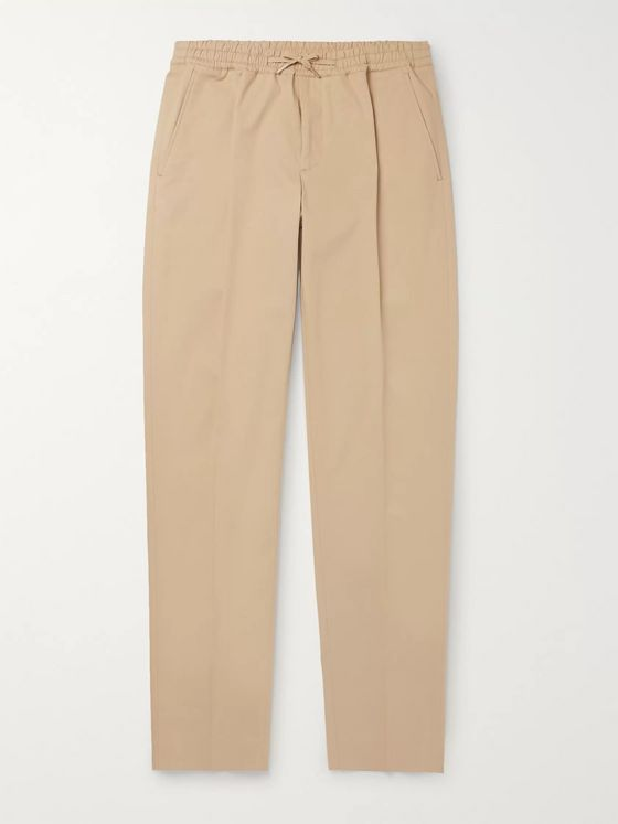 Sandro Alpha Tapered Cotton-Twill Drawstring Chinos