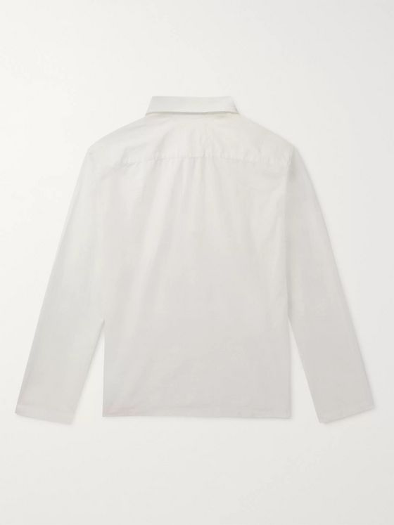 Sandro Cotton-Ripstop Half-Zip Shirt