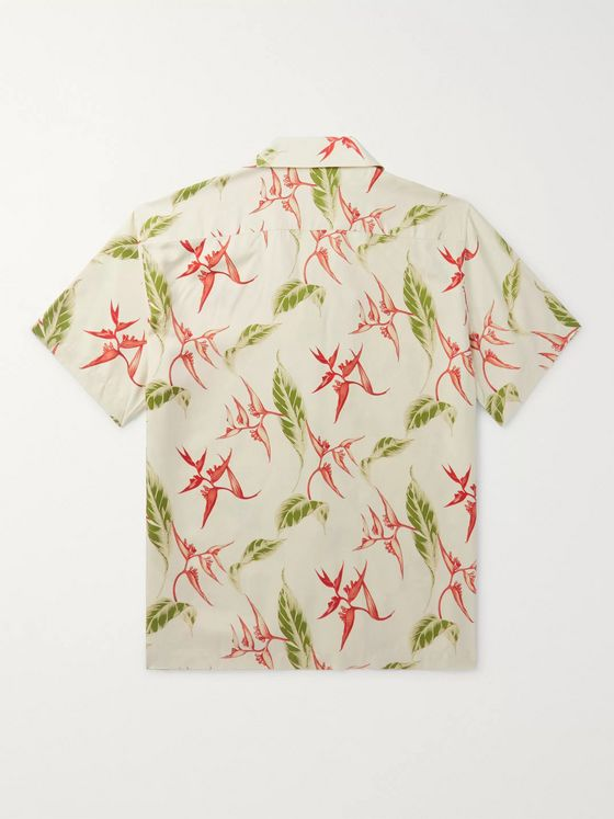 Sandro Camp-Collar Printed Woven Shirt