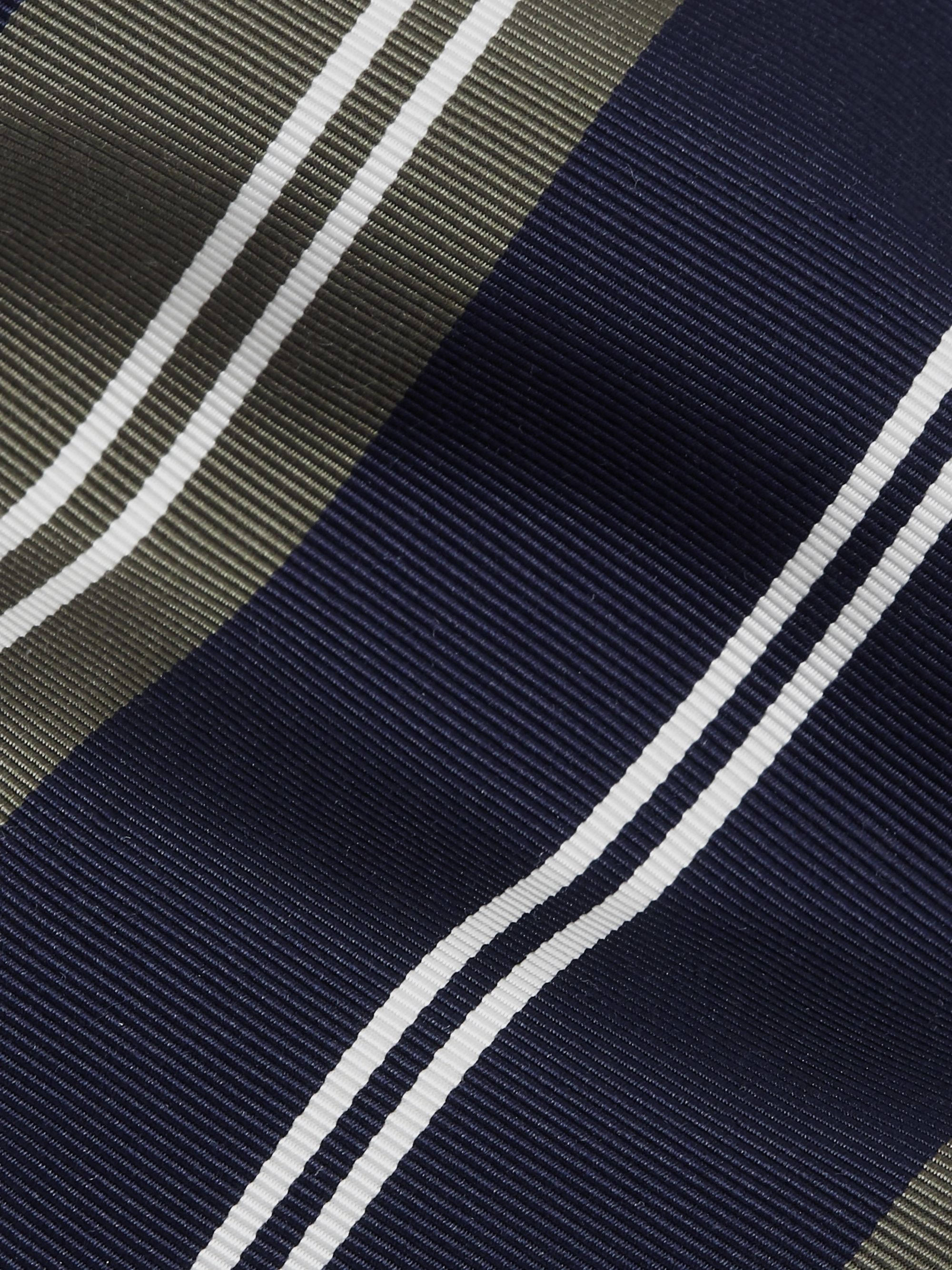 Kingsman + Drake's 8cm Striped Silk and Cotton-Blend Twill Tie