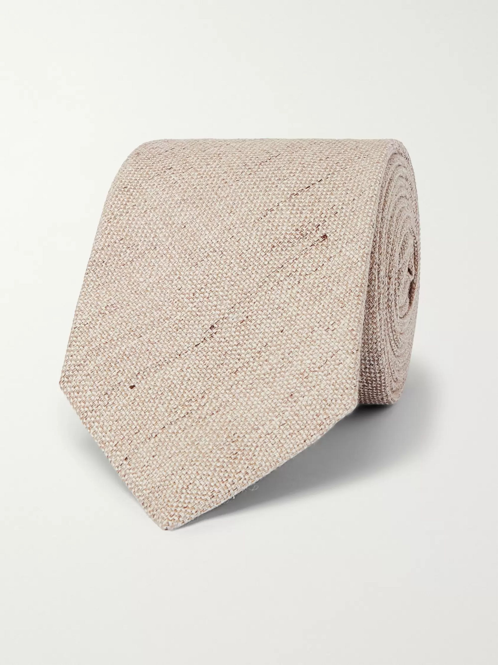 Kingsman + Drake's 8cm Mélange Linen and Silk-Blend Tie