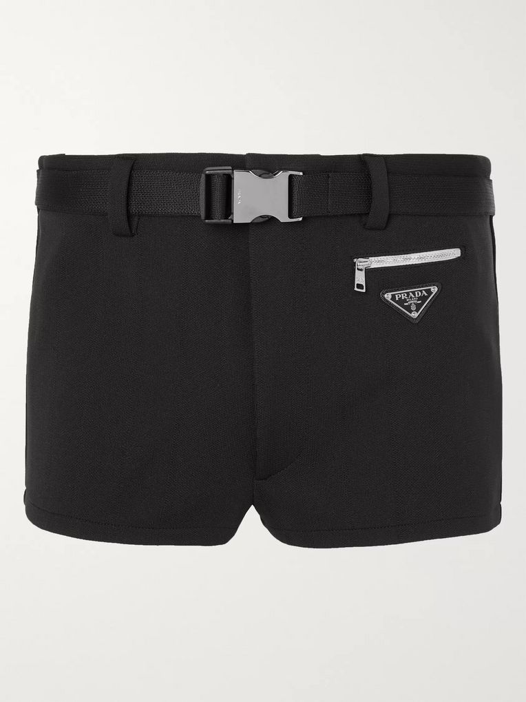 Prada Short-Length Tech-Jersey Swim Shorts