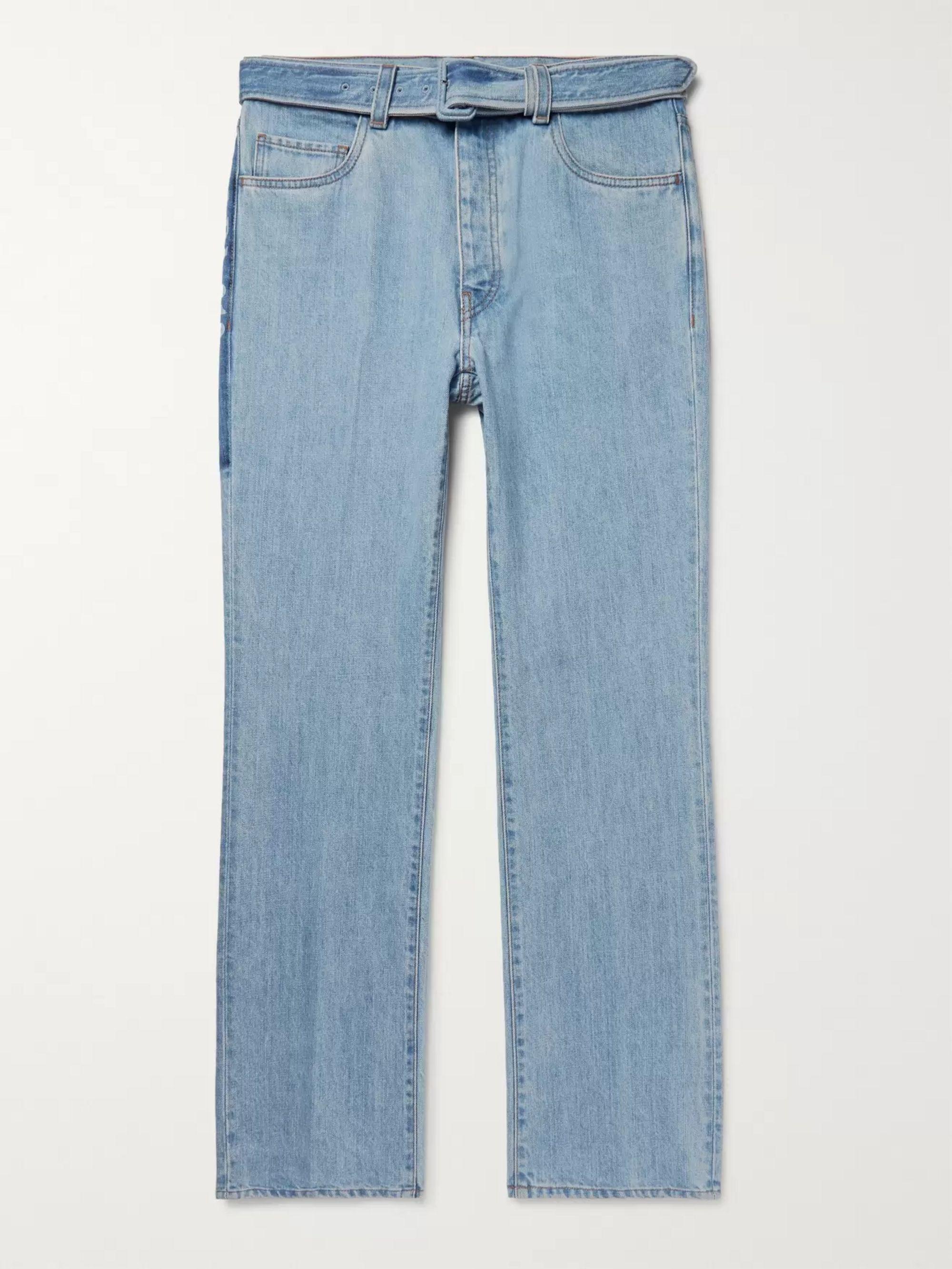 wholesale dealer 76744 ee58d Belted Denim Jeans