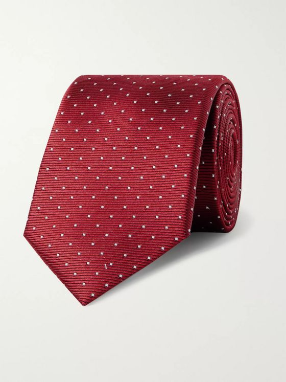 Lanvin 7cm Pin-Dot Silk-Faille Tie