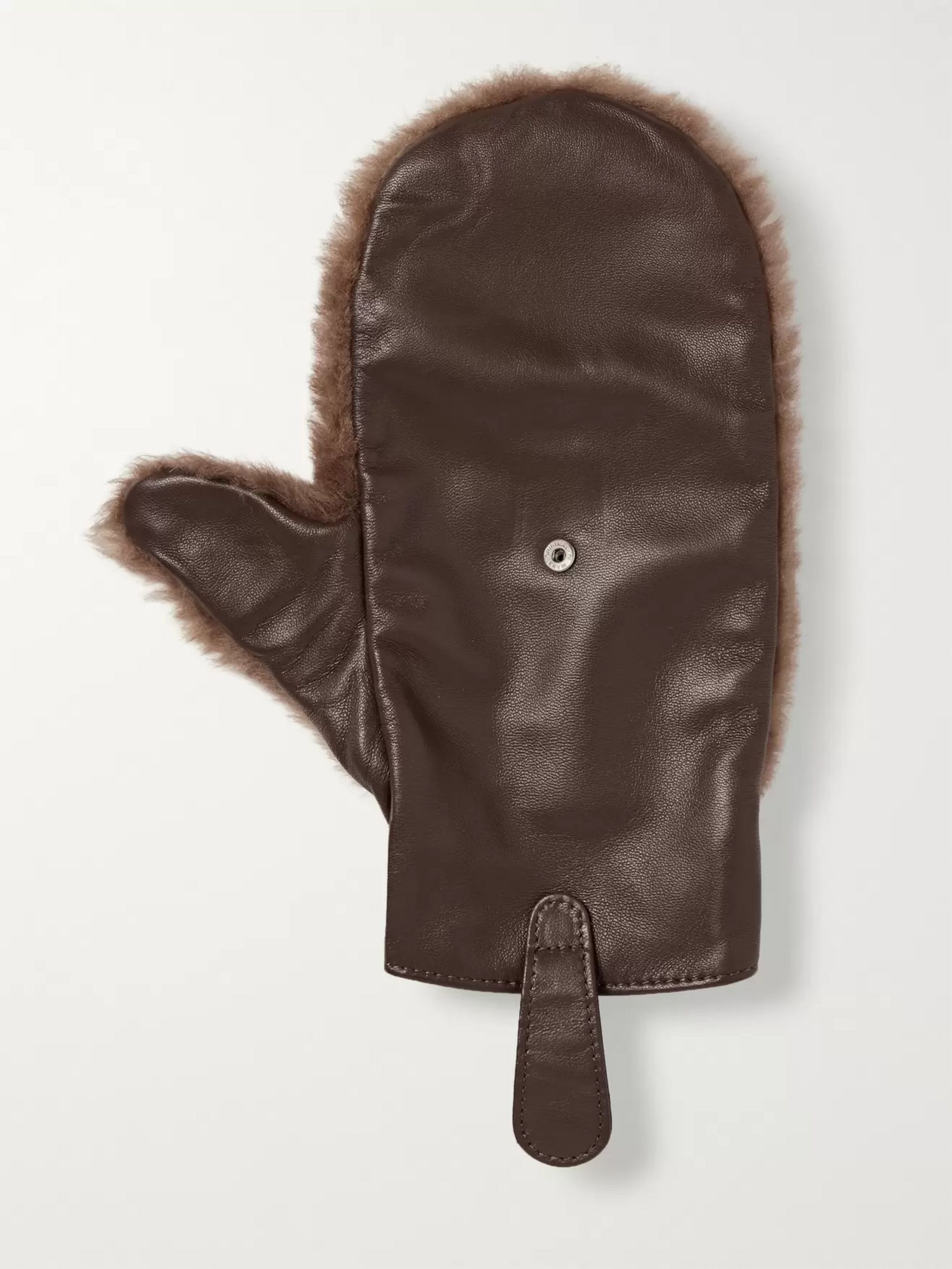 Lorenzi Milano Shearling and Leather Shoeshine Mitt