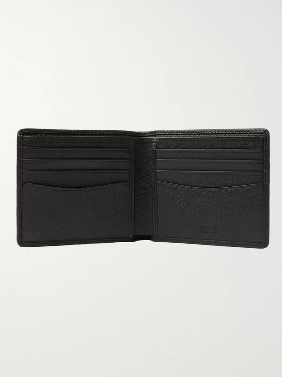 Hugo Boss Signature Cross-Grain Leather Billfold Wallet