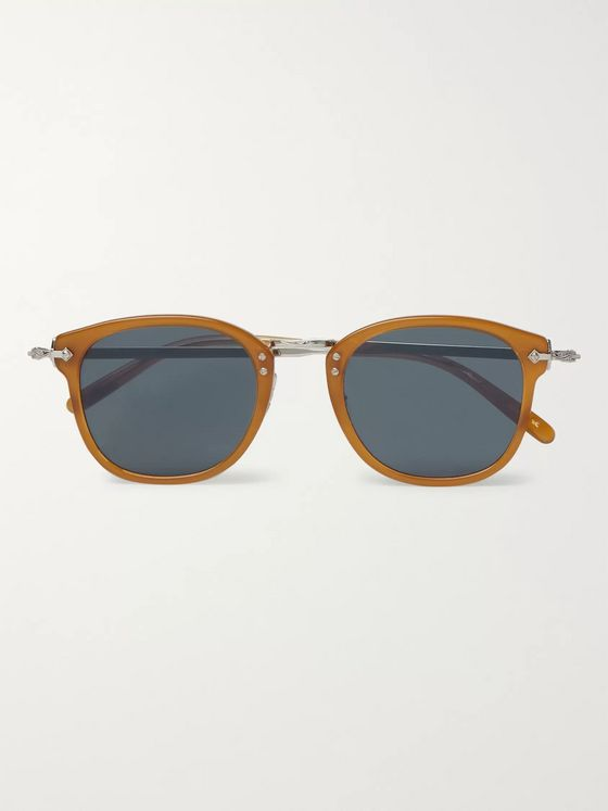 Oliver Peoples OP-506 D-Frame Acetate and Silver-Tone Sunglasses