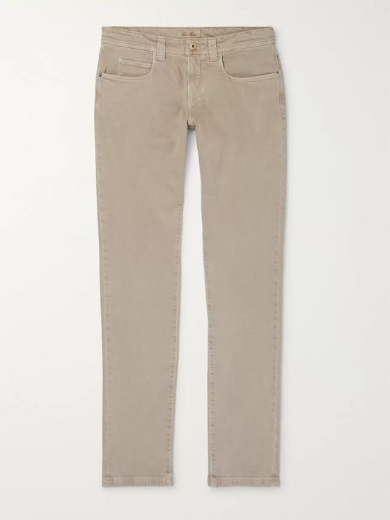 Loro Piana Slim-Fit Stretch-Denim Jeans