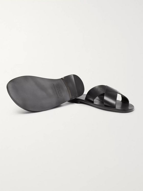 Álvaro Antonio Leather Slides