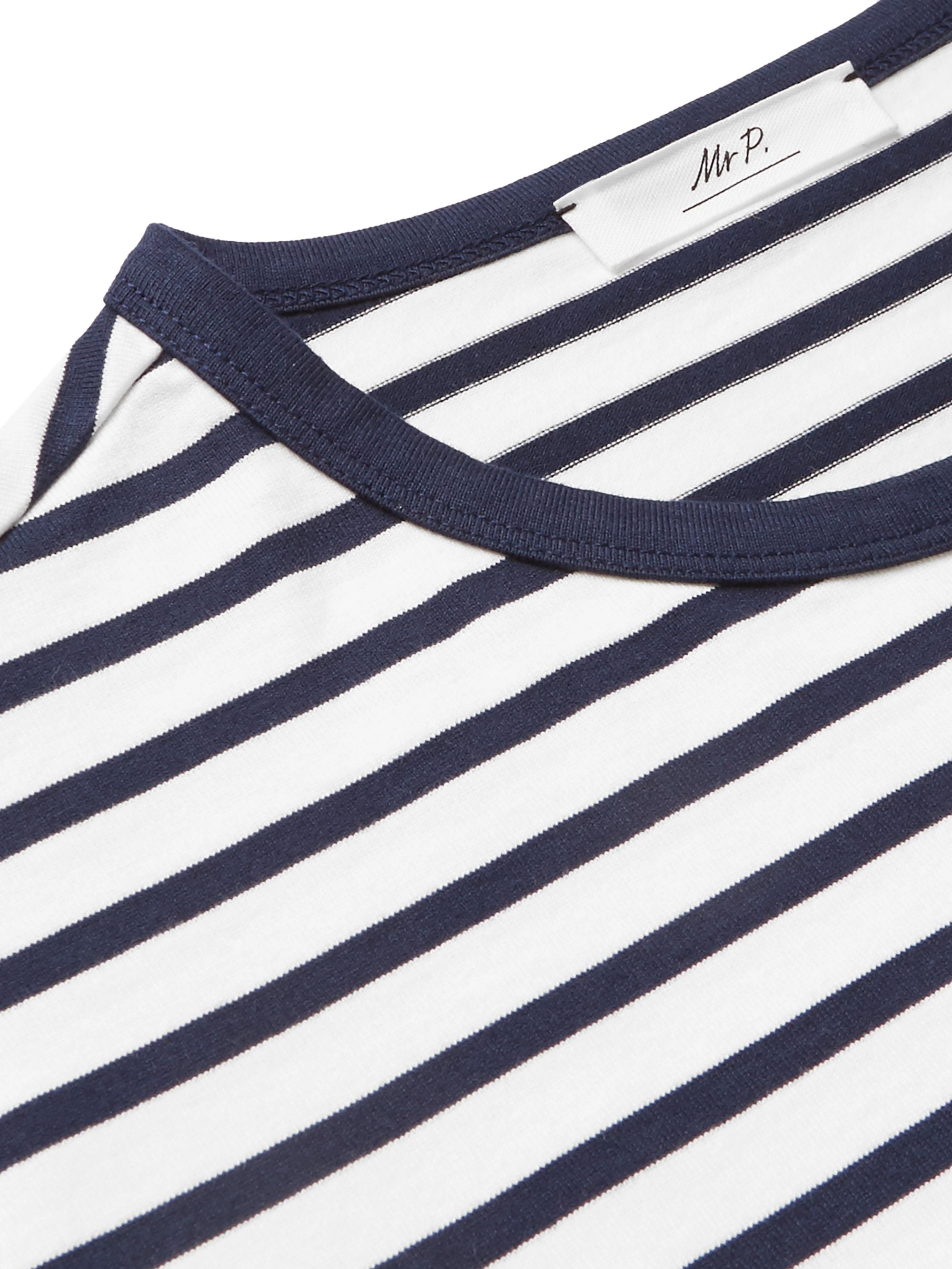 Mr P. Striped Cotton-Jersey T-Shirt