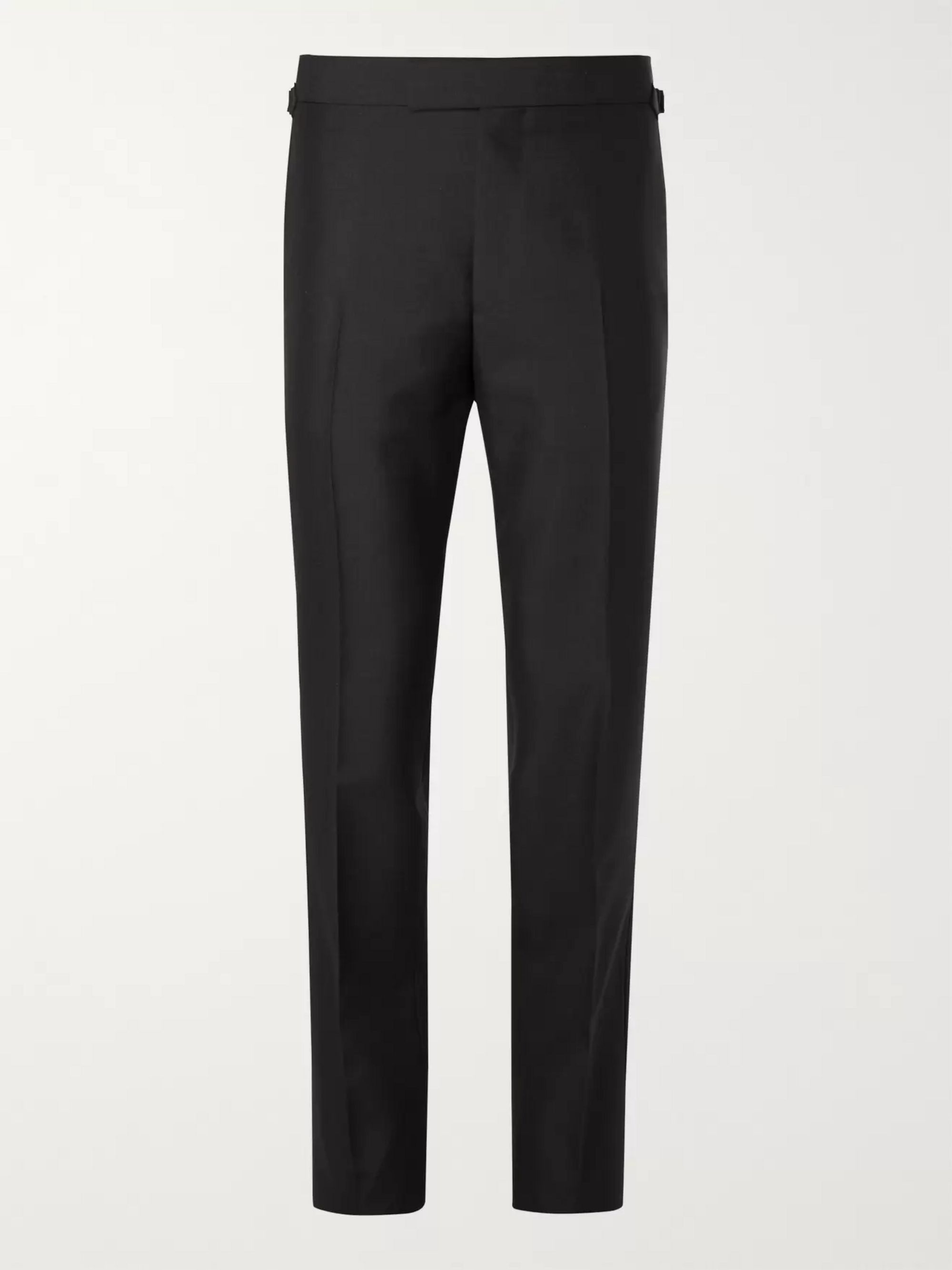 KINGSMAN Eggsy's Black Wool and Mohair-Blend Tuxedo Trousers