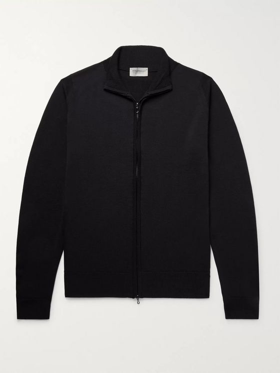 John Smedley Claygate Merino Wool Zip-Up Cardigan