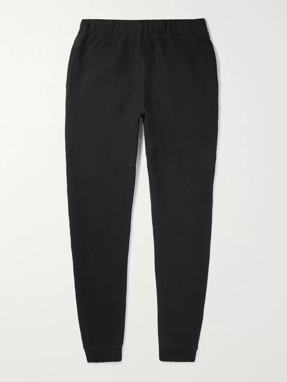 Sunspel Tapered Brushed Loopback Cotton-Jersey Sweatpants
