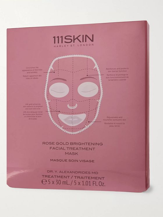 111SKIN Rose Gold Brightening Facial Treatment Mask, 5 x 30ml