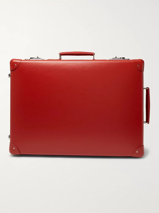 "Globe-Trotter 20"" Leather-Trimmed Suitcase"