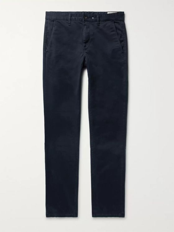 RAG & BONE Fit 2 Slim-Fit Garment-Dyed Cotton-Twill Chinos