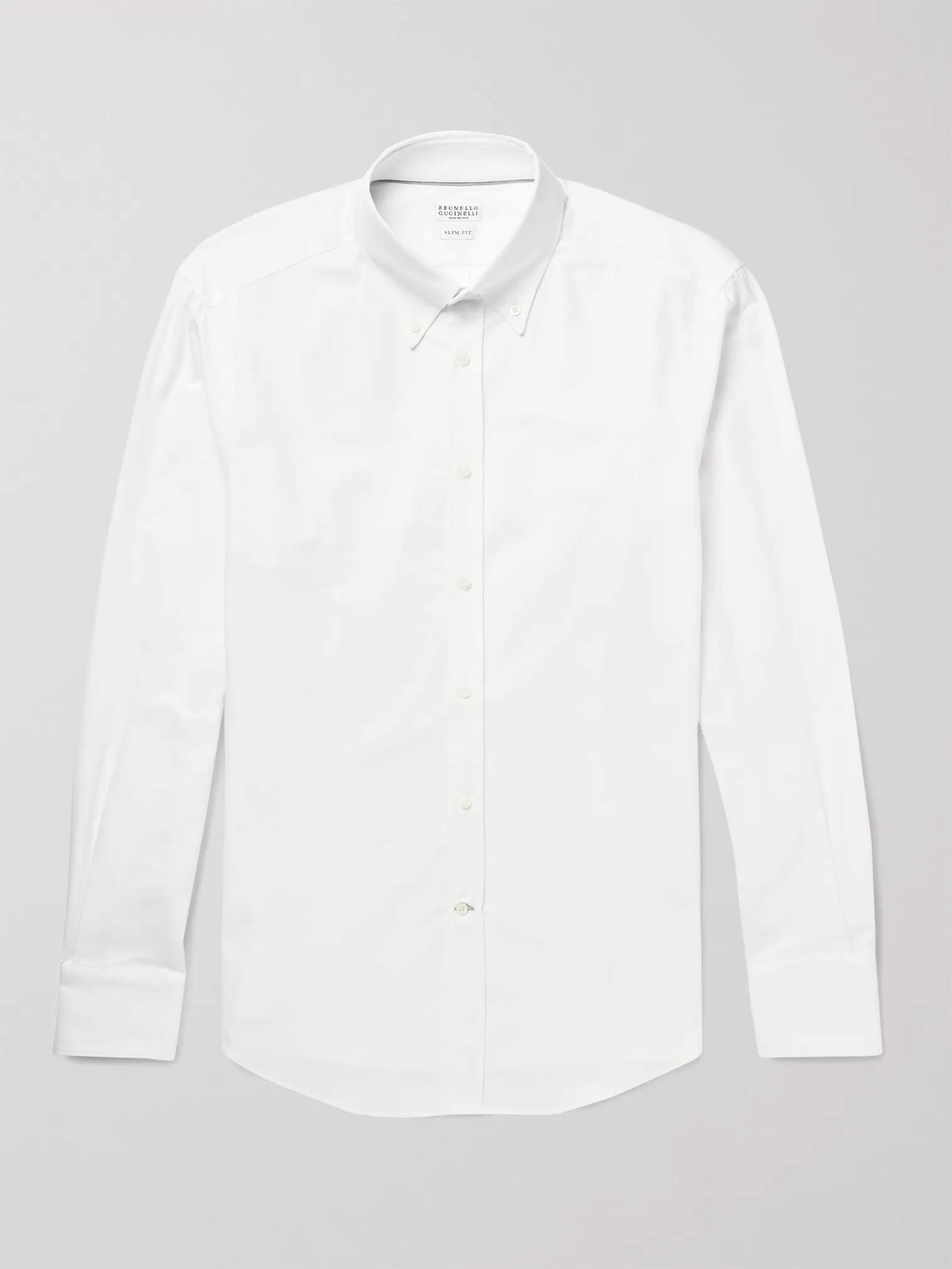 Brunello Cucinelli Button-Down Collar Cotton Shirt