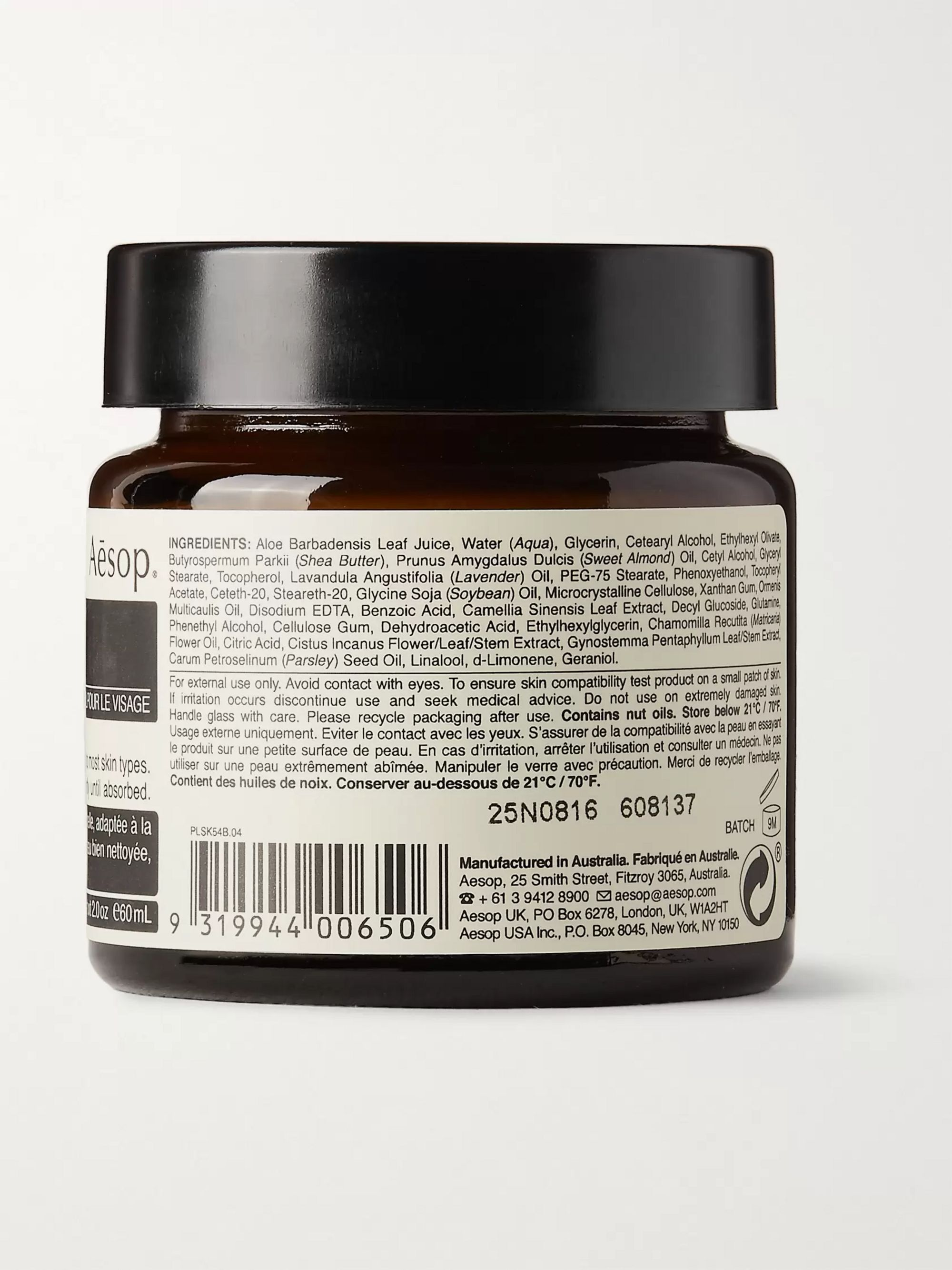 Aesop Parsley Seed Anti-Oxidant Facial Hydrating Cream, 60ml