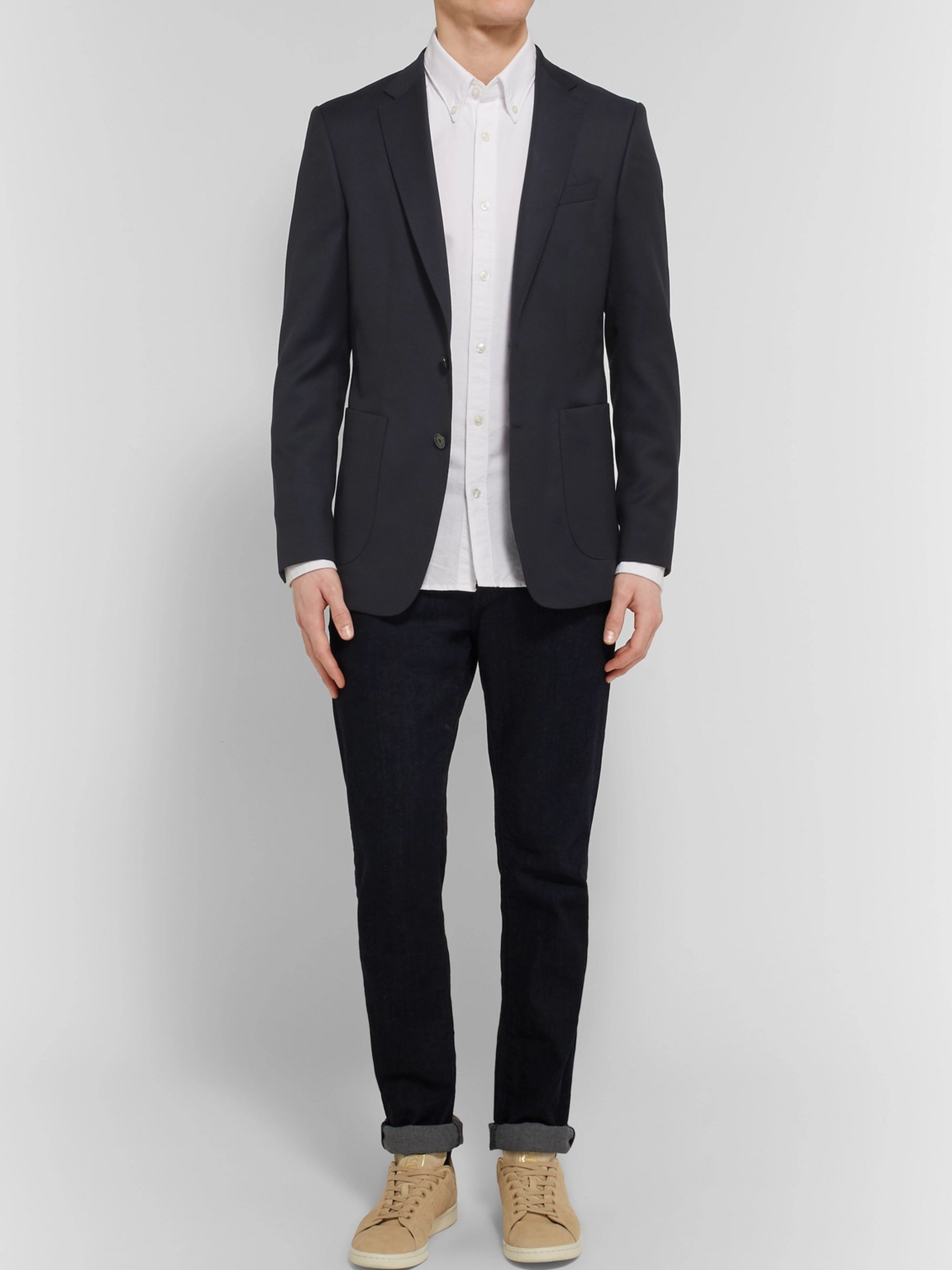 Hugo Boss Blue Nordon Slim-Fit Birdseye Wool Blazer