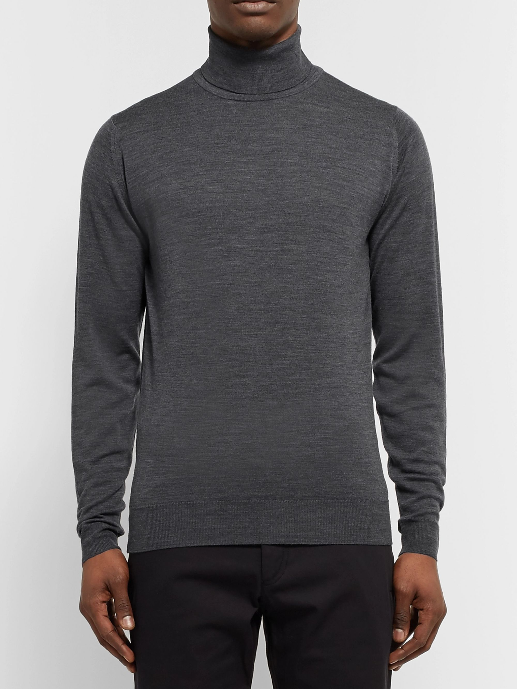 John Smedley Cherwell Slim-Fit Merino Wool Rollneck Sweater