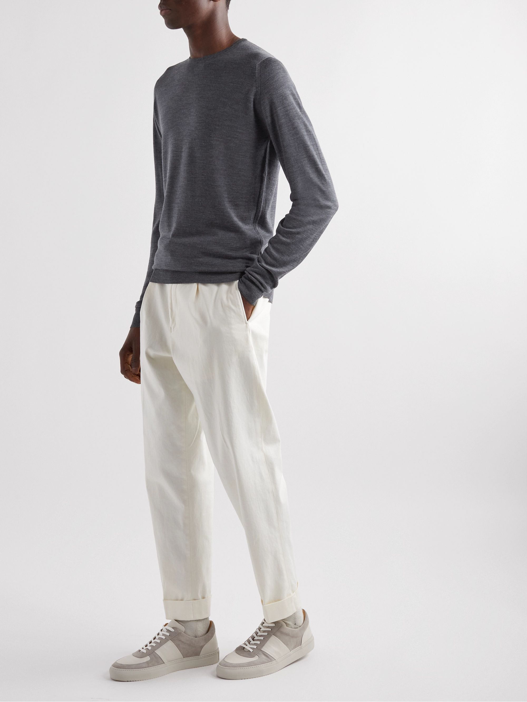 John Smedley Lundy Slim-Fit Mélange Merino Wool Sweater