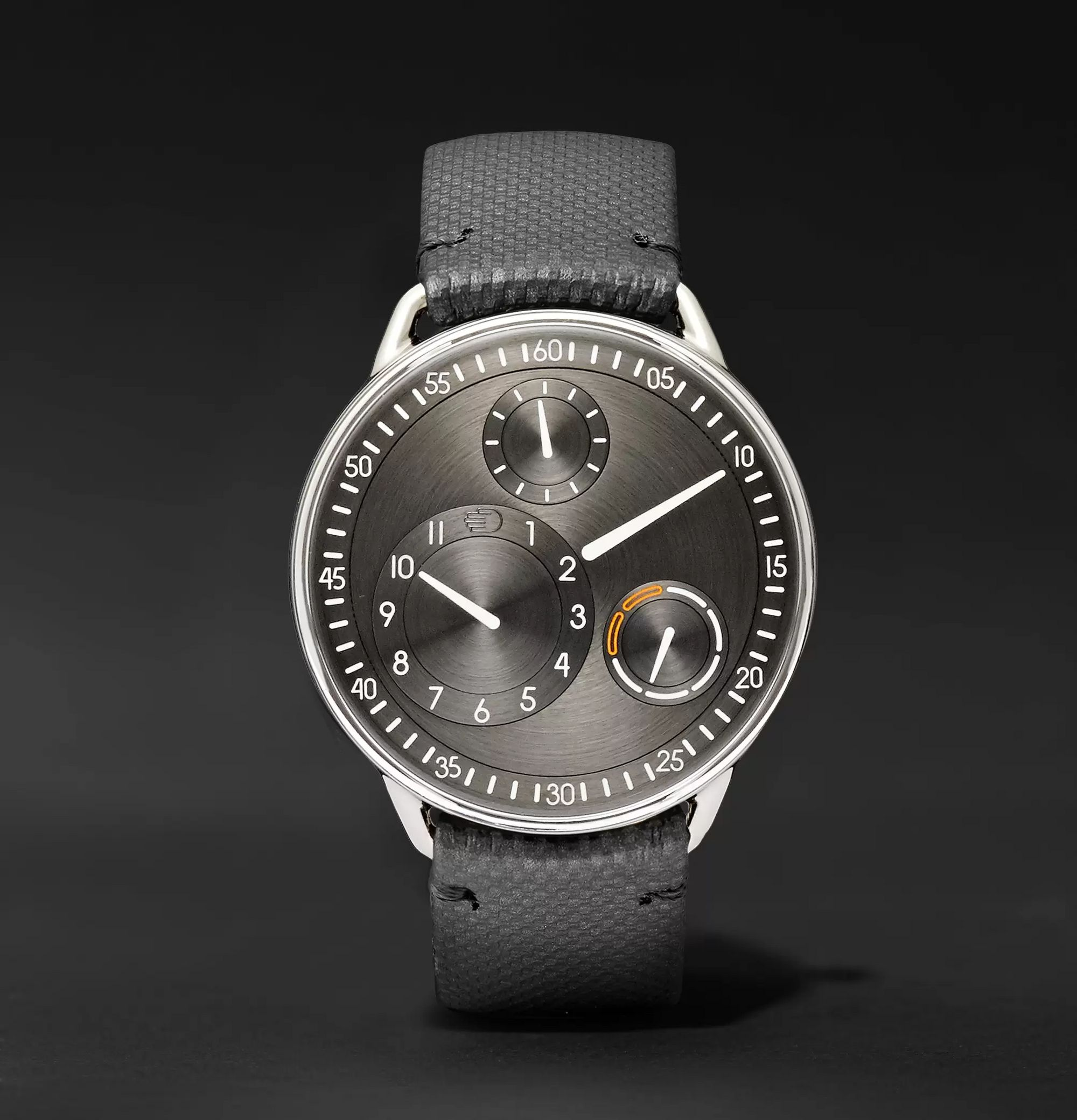 Ressence Type 1 Mechanical 42mm Titanium and Leather Watch, Ref. No. TYPE 1R