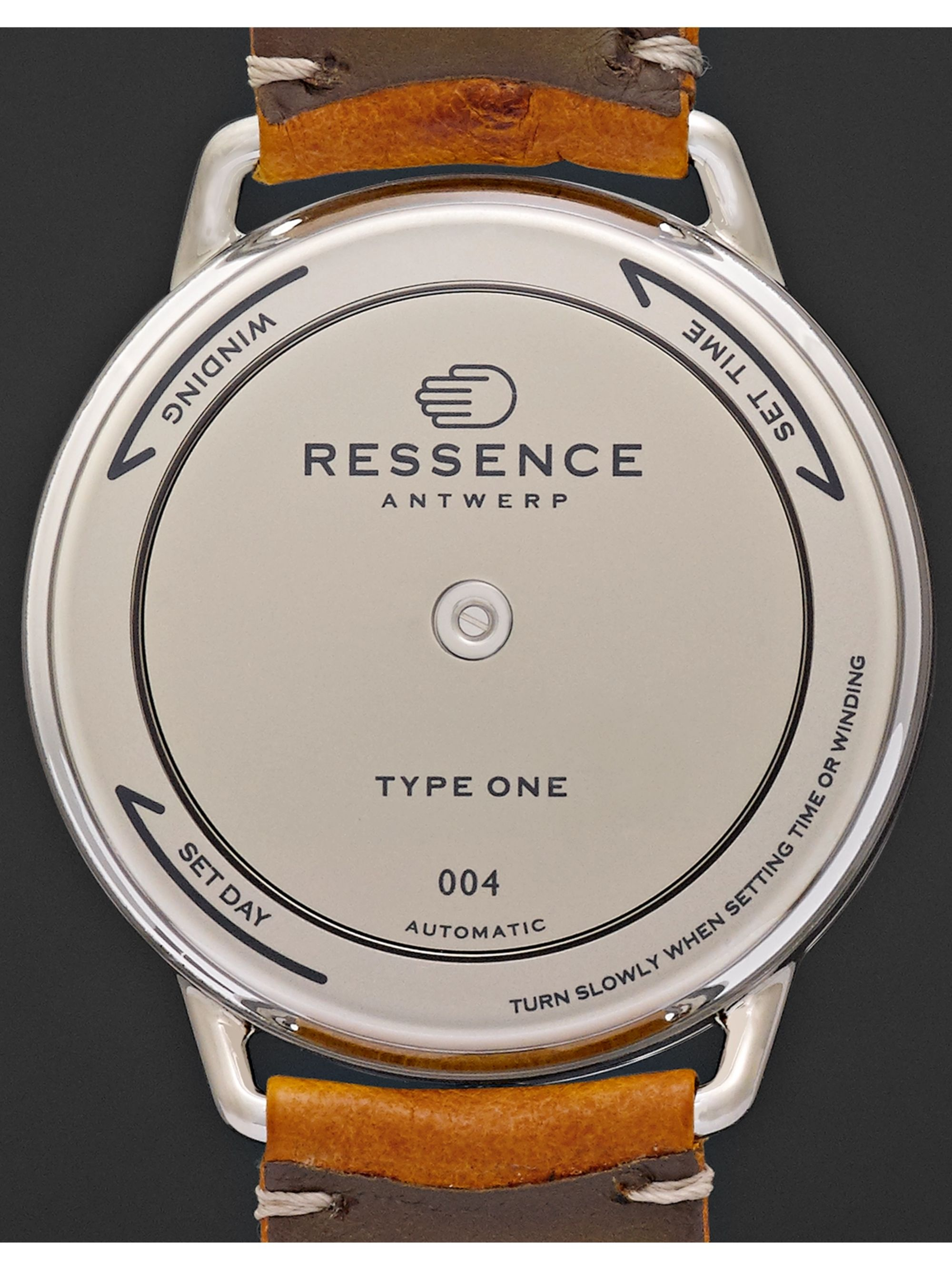 Ressence Type 1 Mechanical 42mm Titanium and Ostrich Watch,  Ref. No. TYPE 1W