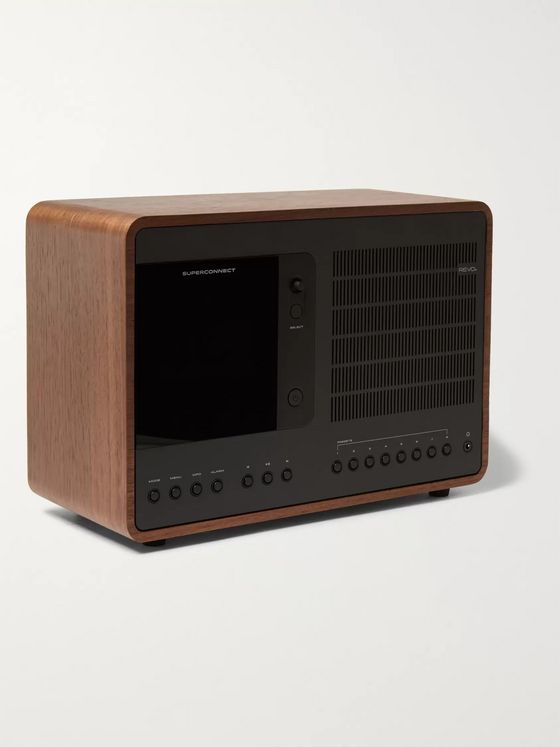Revo SuperConnect Walnut and Aluminium WiFi/DAB/DAB+/FM Table Radio