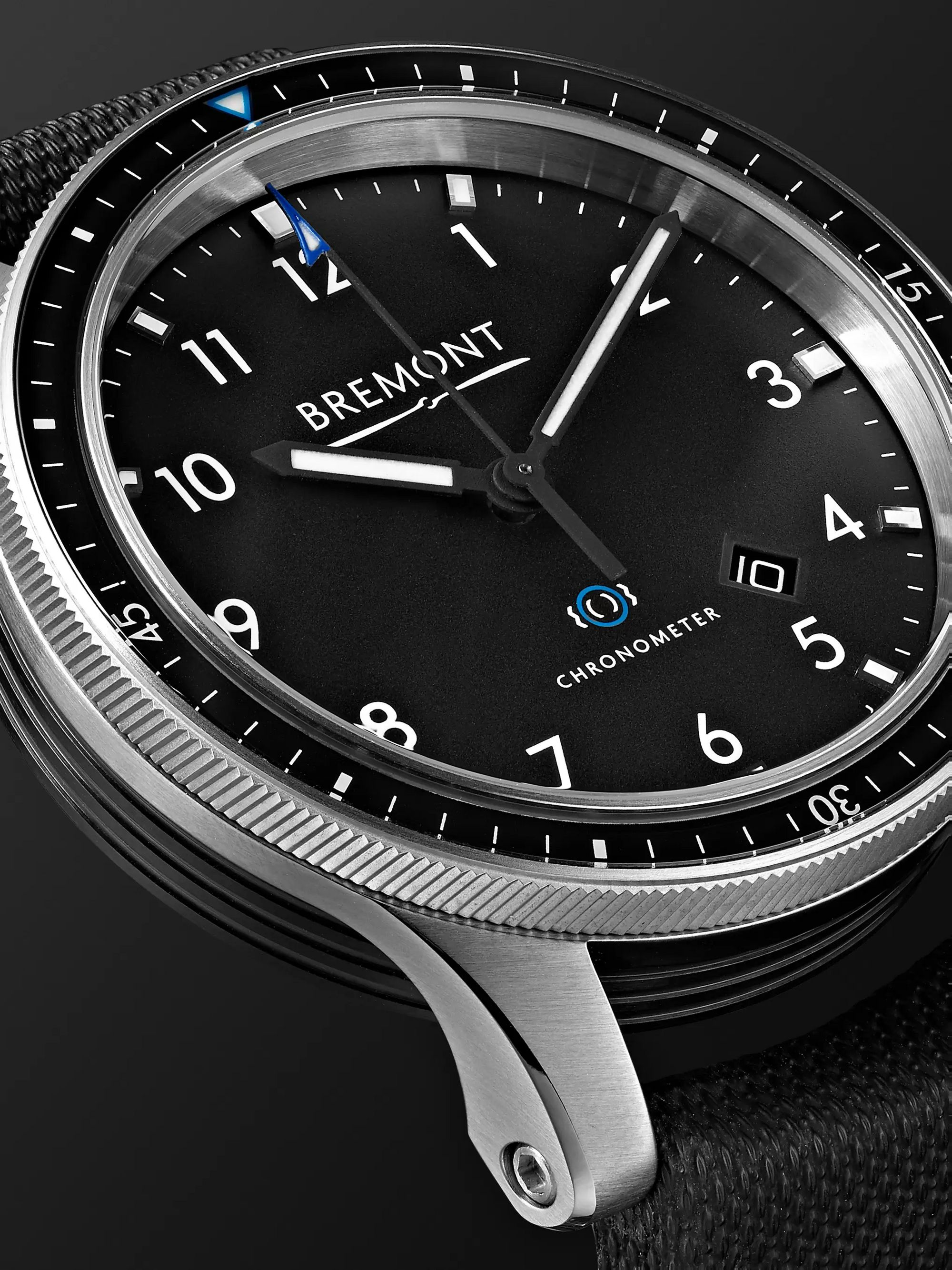 Bremont Model 1 SS/BK Automatic Chronometer 43mm Stainless Steel Watch, Ref. No. MODEL1/BK/SS