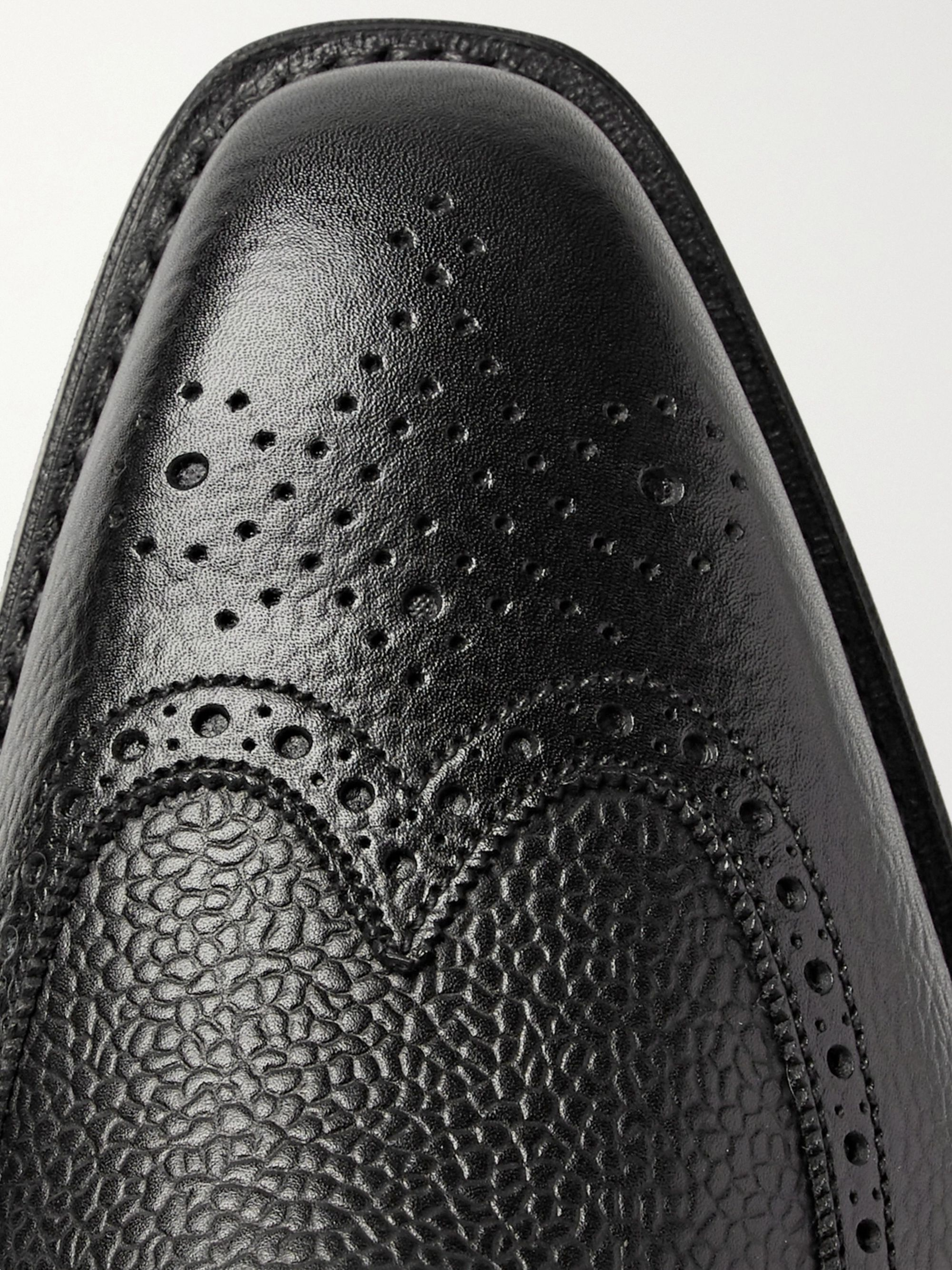 George Cleverley Henry Pebble-Grain Leather Wingtip Brogues