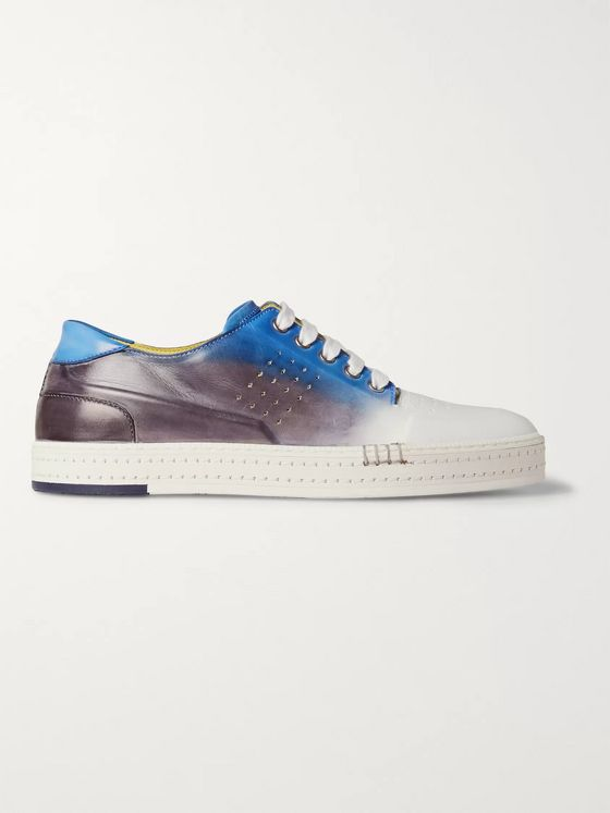 BERLUTI Playtime Dégradé Polished-Leather Sneakers